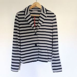 GAP Blazer Sweater Striped Cotton Knit